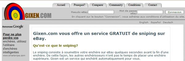 Page d'accueil de gixen.com