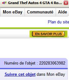 Numéro d'objet ebay