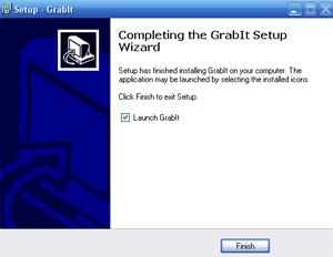 lancement du logiciel grabit