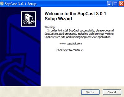 installation de sopcast