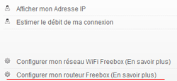 Configurer son routeur freebox