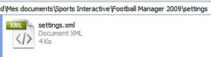 Copie du fichier settings.xml